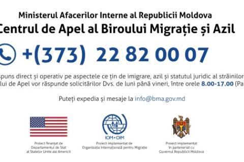 Centrul de Apel al Biroului Migrație și Azil